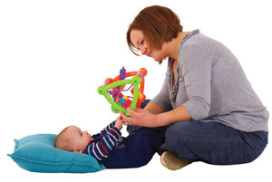 Baby grabbing toy image